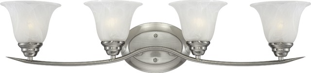 Trinidad 4-Light Bath and Vanity - Traditional - Bathroom Vanity Lighting - by Volume Lighting