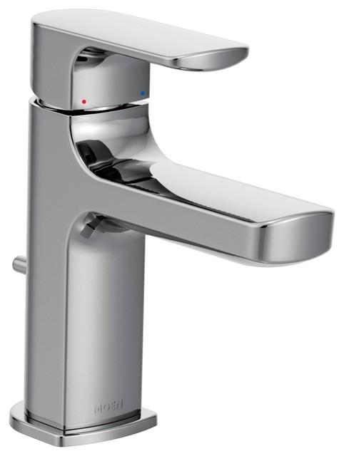 Moen Genta Chrome 1 Handle Bathroom Faucet: Moen 6900 Rizon Single-Handle Low Arc Bathroom Faucet