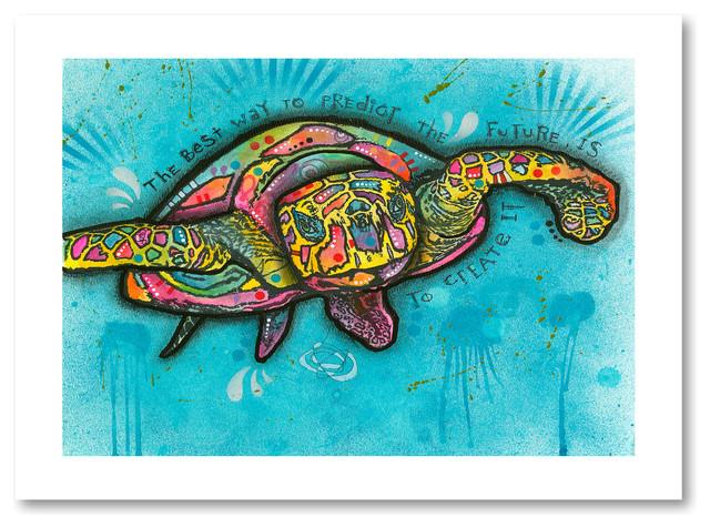 Dean Russo 'Turtle' Paper Art, 18x24, 18x24
