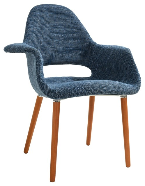 Poly And Bark Barclay Dining Chair, Blue