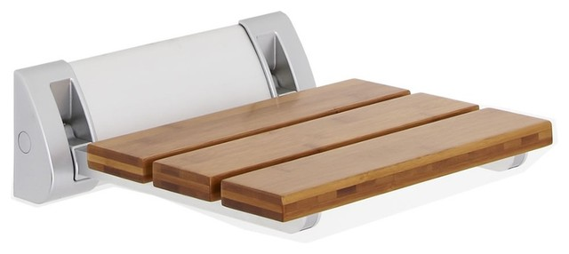 Hudson Reed - Bamboo Folding Shower Seat, Wide Base & Reviews | Houzz