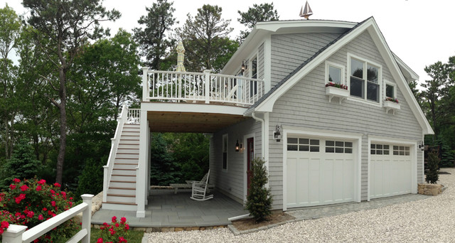 Detached garage with deck loft for Best builders workshop deck