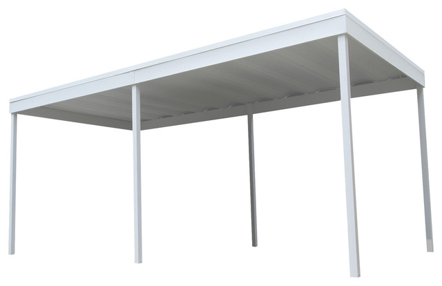 Attached Carport/patio Cover, Eggshell, 10&x27;x20&x27;.
