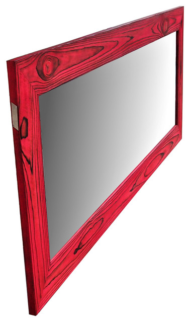 Red Mirror Reclaimed Wood Mirror Large Mirror Full Length Mirror Contemporary Wall Mirrors By Alexander Muller
