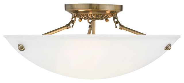 Oasis Ceiling Mount, Antique Brass.