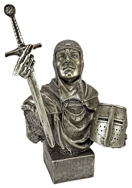 Gothic Knight Statue - Traditional - Decorative Objects And ...