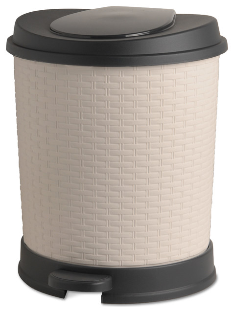 Superio brand palm luxe pedal trash can 22 quart view in your room houzz - Modern wastebasket ...