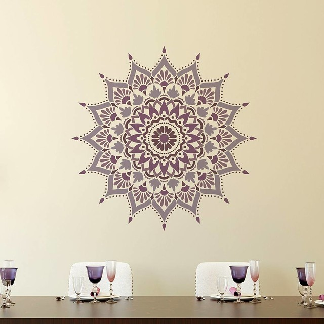 Decorative Wall Stencils mandala stencil radiance, reusable stencils for walls, diy home