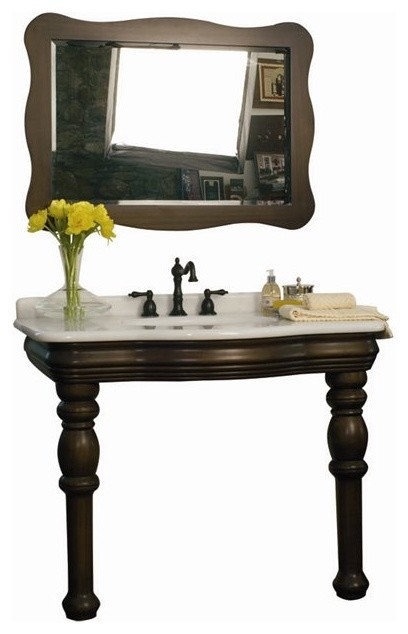 bathroom sink consoles wood foret model c50101 wood console lavatory and mirror 16451