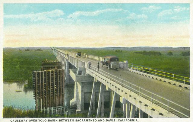 Quot Davis Ca Causeway Over Yolo Basin Towards Sacramento