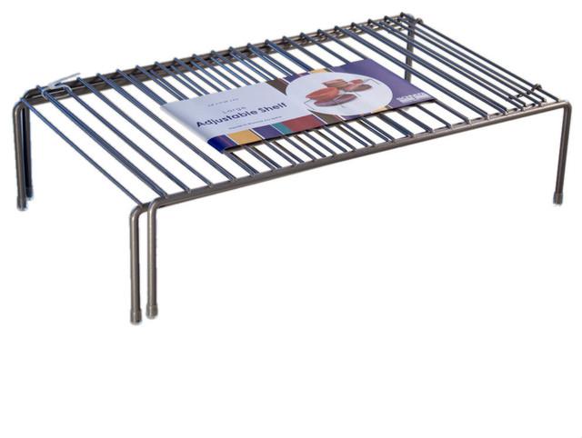 Organized Living Adjustable Shelf, Nickel.
