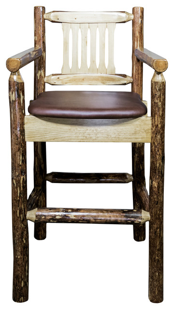 Astonishing Glacier Country Collection Captains Bar Stool Upholstered Seat Saddle Pattern Caraccident5 Cool Chair Designs And Ideas Caraccident5Info