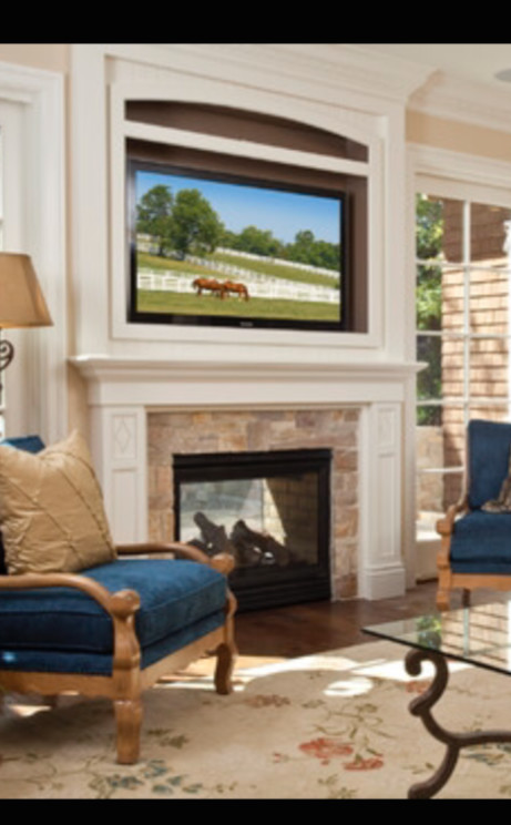 Ordinary Fireplace No Hearth Part - 13: ... White Trim Framing The Fireplace And Framing The Spot Above For A TV  For A Floor To Ceiling Effect). Does Not Having The Hearth Look Unbalanced  Or As If ...