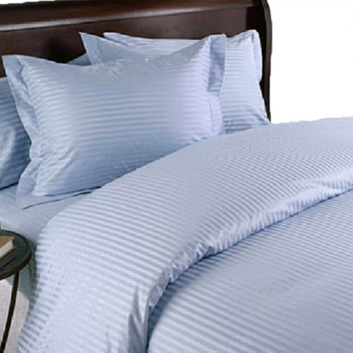 Blue Stripe King Goose Down Comforter 8 Piece Bed In A Bag