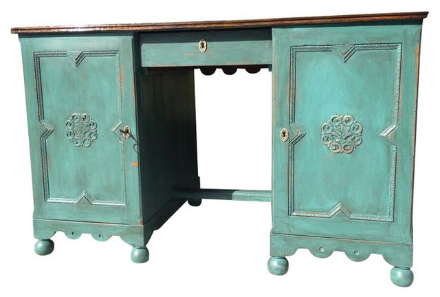Antique Green Two-Sided Desk - $2,500 Est. Retail - $1,250 on ...
