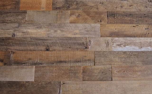 Reclaimed Wood Wall Paneling, Brown, 5.5