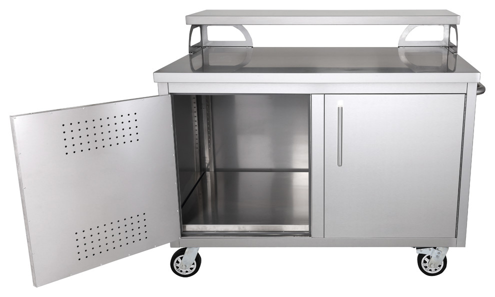 Portable Stainless Steel Outdoor Kitchen Cabinet & Bar