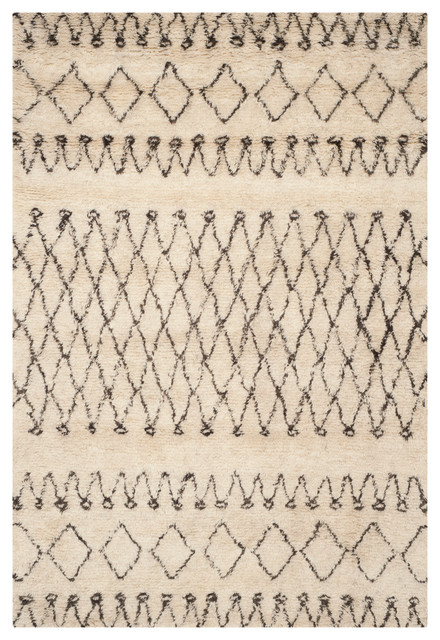 Safavieh Kala Hand-Knotted Rug, Ivory And Black, 9&x27;x12&x27;.
