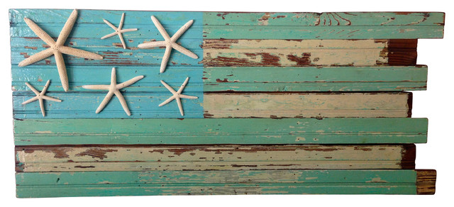 Reclaimed Wood Flag Wall Art, 3' rustic-flags-and-flagpoles - Reclaimed Wood Flag Wall Art, 3' - Rustic - Flags And Flagpoles