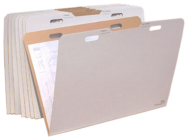 "Aos Vfolder, 8-Pack Rigid Storage Folder For 22""x34"" And 24""x36"" Documents."