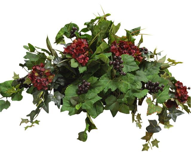 Silk Ledge Plant With Hydrangea Berries Amp Ivy