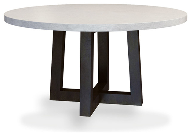 round concrete dining table taupe 60 diameter modern dining tables