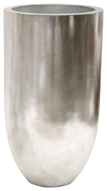 Leith Modern Classic Silver Leaf Decorative Planter Amp Reviews Houzz