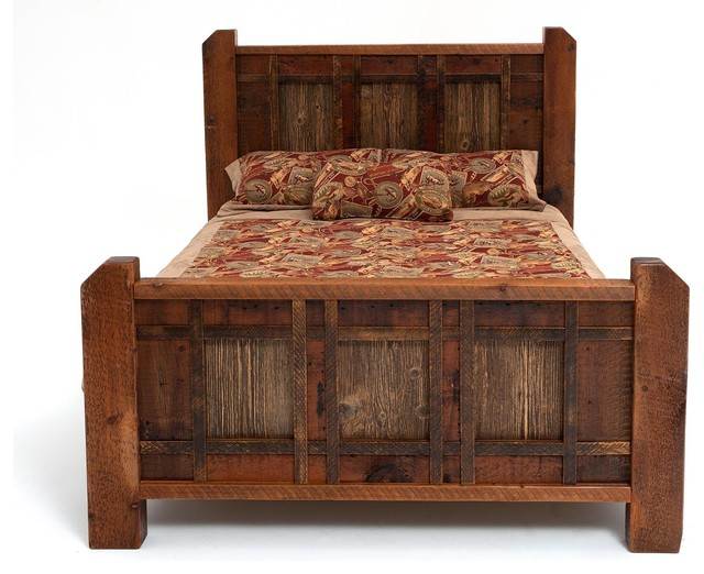 Rustic Barnwood Cabin Bed Rustic Panel Beds By