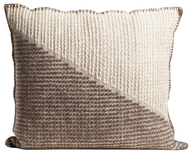 Handmade Square Brutrach Wool Cushion By The Good Shepherd Grey And White Scandinavian Ter Cushions New Craftsmen