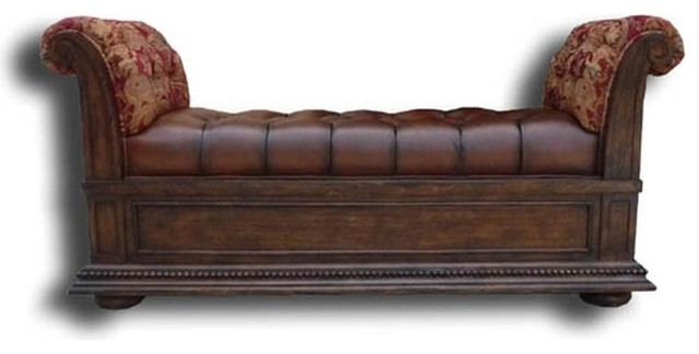 New bench leather decorative wood trim traditional indoor benches by euroluxhome Decorative benches
