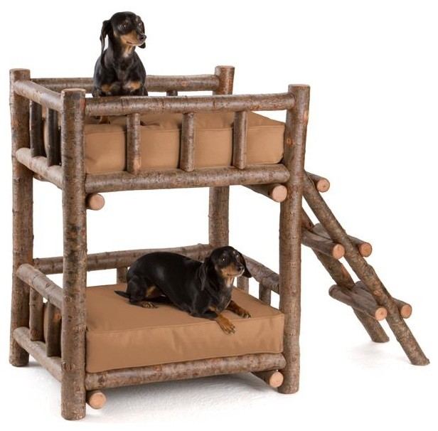 Rustic Dog Bunk Bed #5134 by La Lune Collection