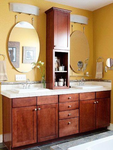 Vanity top tower storage - Small bathroom vanity with storage ...