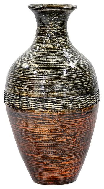 Heather Ann Creations Jill 20 Quot Spun Bamboo Vase Brown