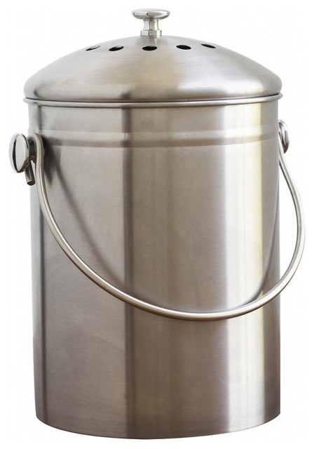 stainless steel compost bin 13 gallon