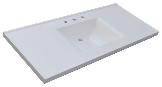 Double Wave Bowl Vanity Tops : Sagehill designs wb cultured marble vanity top