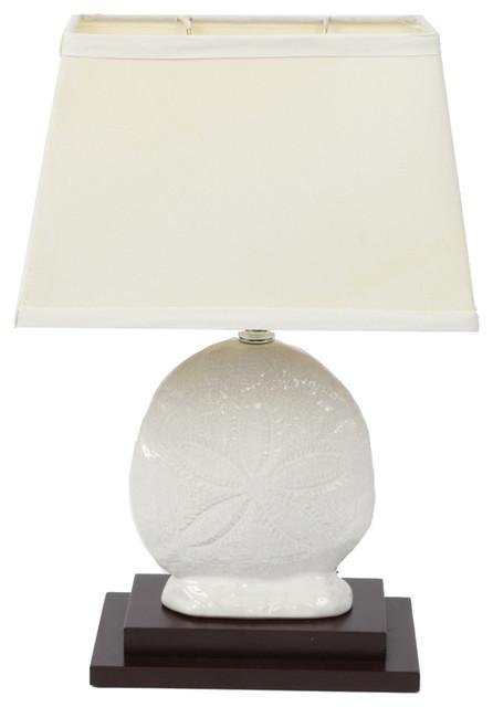 Sand Dollar Lamp.