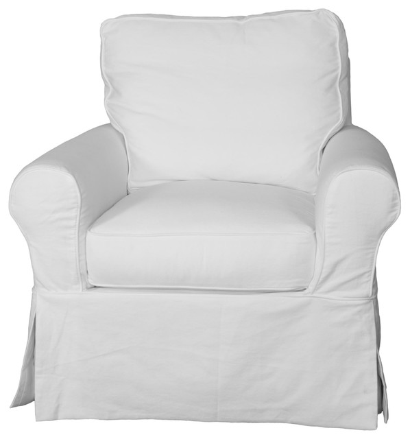 Whitman Swivel Chair With Slip Cover, Warm White.