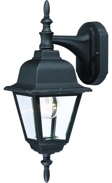 Black Outdoor Patio Or Porch Exterior Light Fixture.