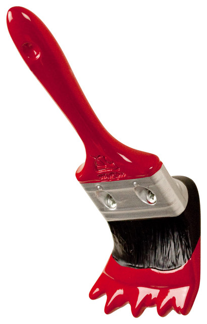 Paint Brush Wall Hook, Glossy Red