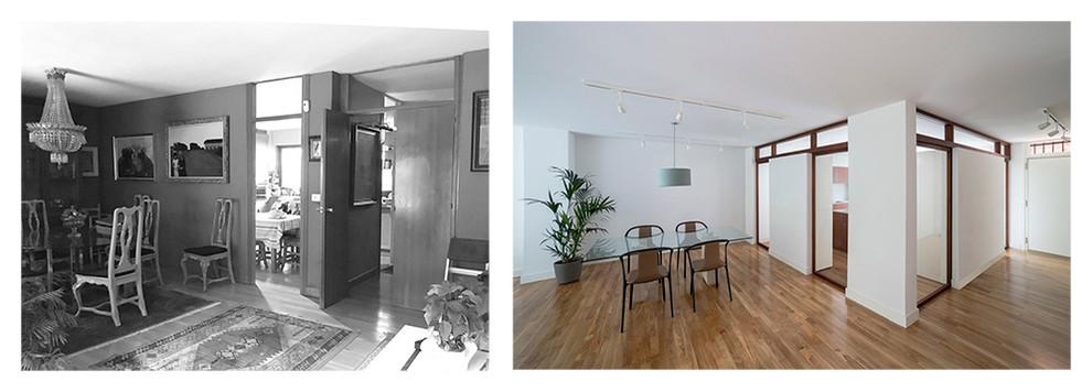 Antes y después de la misma zona
