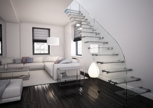 9 scale con parapetti in vetro da cui lasciarsi conquistare - Apertura solaio per scala interna ...