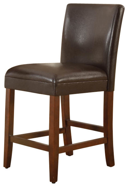 Kinfine 24 luxury faux leather barstool reviews houzz for Luxury leather bar stools