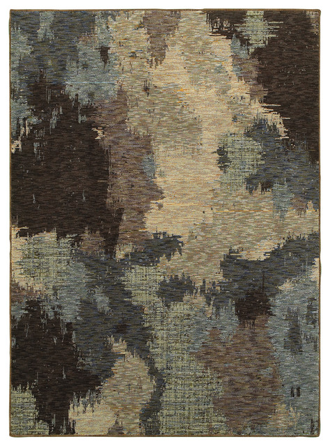 Elements Cache Blue Brown Area Rug