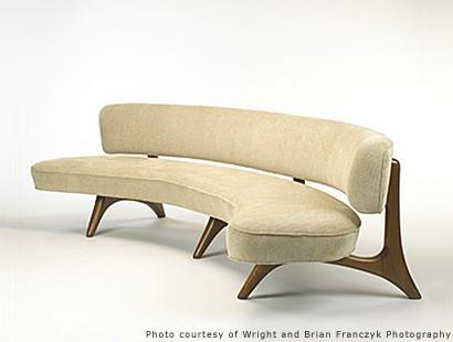 Have A Loft With A Floating Curve Sofa Vladimir Kagan.