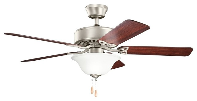 "Kichler Lighting Renew Select Es Ceiling Fan With 5 Blades, Brushed Nickel, 50""."