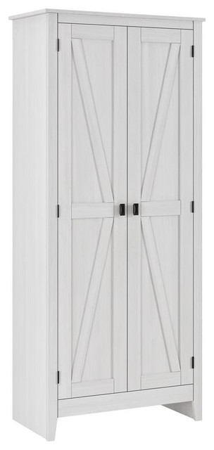 A Design Studio Glen Orchard  31.5 Inch Wide Storage Cabinet In Ivory Pine.