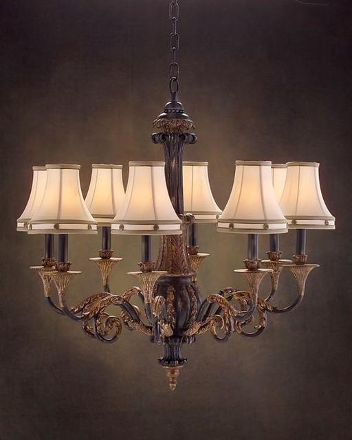 john richard 8 light chandelier ajc 8495 contemporary. Black Bedroom Furniture Sets. Home Design Ideas
