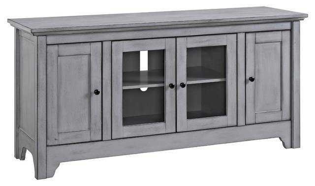 Edison 3-Cabinet Tv Stand, Antique Gray.