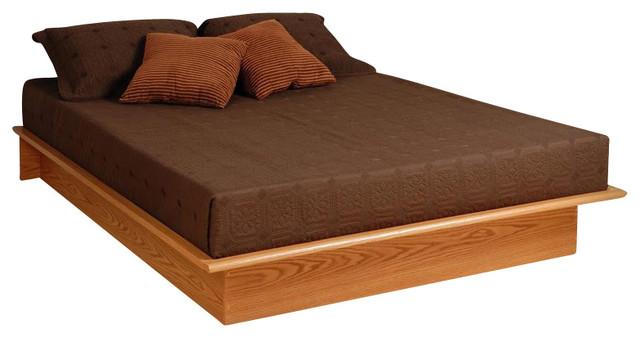 Prepac Oak Juvenile Double / Full Size Platform Bed.