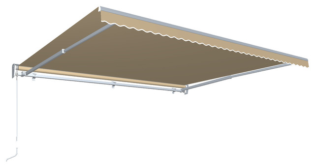 12&x27; Destin With Hood Right Motor/remote Retractable Awning, Tan.